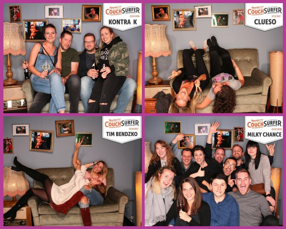 Fotobox für Events - Fotos von vier Couchsurfer Konzerten